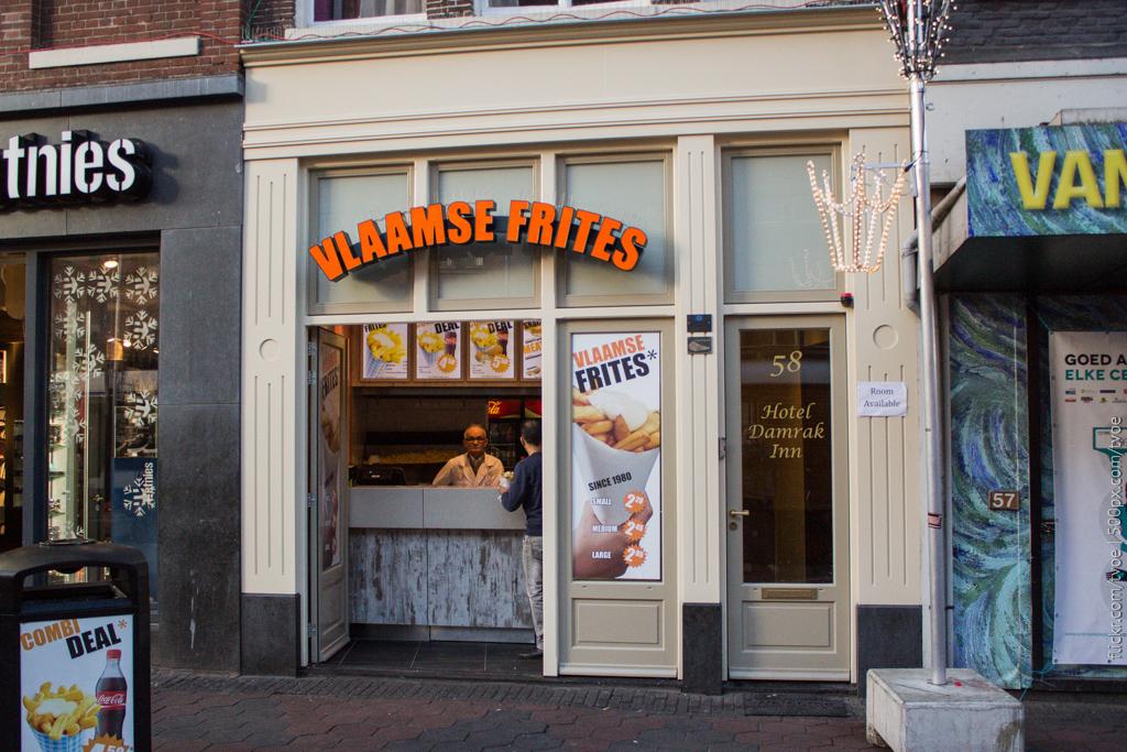 Продажа картошки в Амстердаме