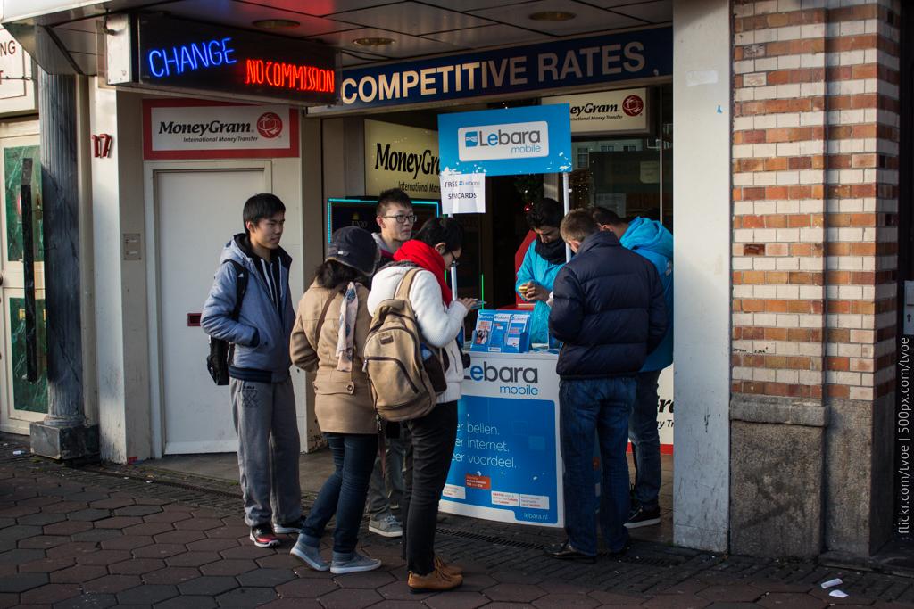 Покупка карт Lebara в Амстердаме