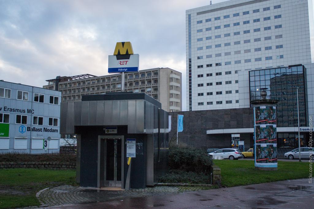 Вход для инвалидов в метро Роттердама