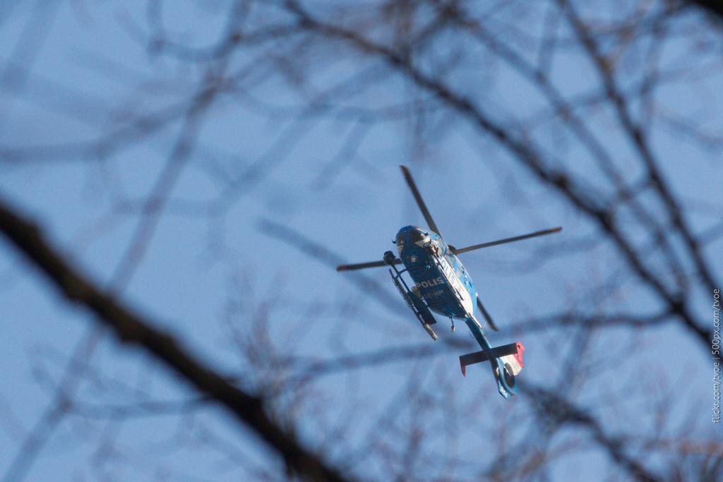Полицейский вертолёт в Стокгольме